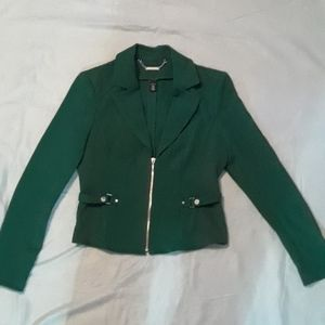 White House Black Market Green Blazer